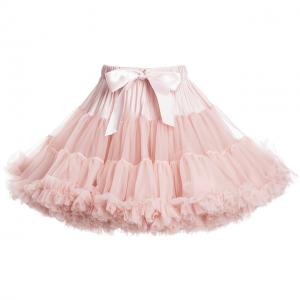 Lys-rosa-barnelykke-angelsface-barnebutikk-på-nett-romantisk-tyll-stutteskjørt-tiara