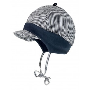 Babycaps - Marineblå Rutemønster
