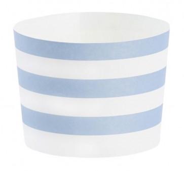 Baking form - Blå striper langsgående, Stor,  24stk