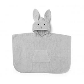 Liewood Pocho Håndkle/Badekåpe - Rabbit Grå