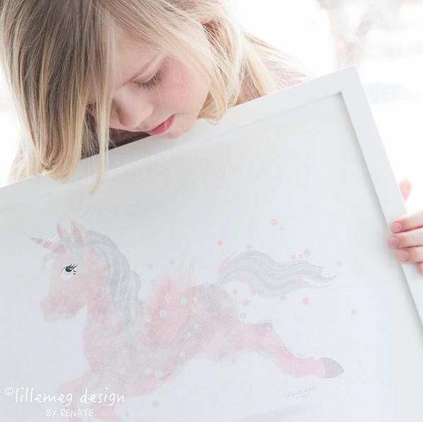 Plakat til barnerom, marihøne, norsk design, lillemeg