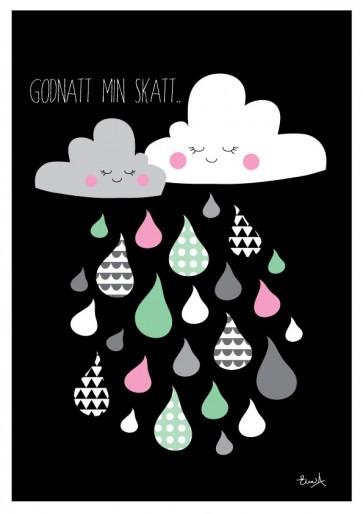 Plakat A4 - God Natt Sort