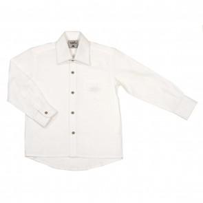 Memini Skjorte - Hvit med mørke knapper