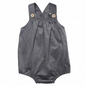 Memini Wally Romper - Charcoal