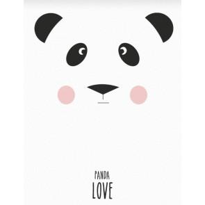 """Plakat - """"Panda LOVE"""" A3"""