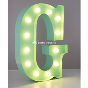 Ledlys Bokstavlampe - Grønn
