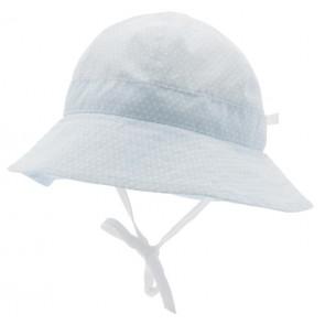 Sommerhatt Polka Dot - Dus Blå