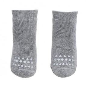 Strømper med Antiskli - Grey Melange