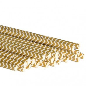 Papirsugerør - Chevron Gull