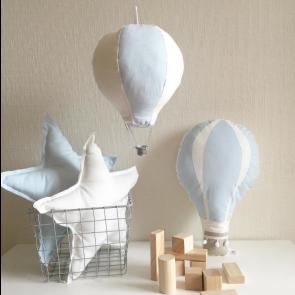 Luftballong Pute - Blå & Hvit