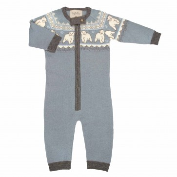 Memini Polar Overall - Grey Blue