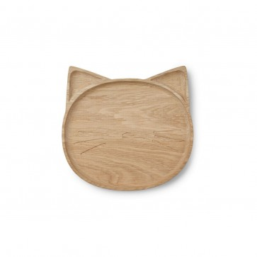 Liewood Conrad Wooden Plate - Cat