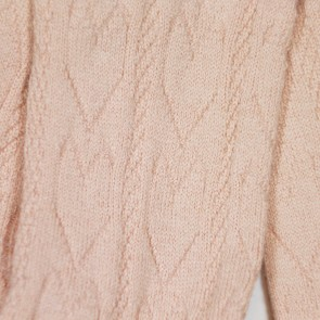 Memini Heart Tights - Dusty Peach