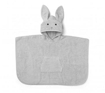 Liewood Poncho Håndkle/Badekåpe - Rabbit Grå