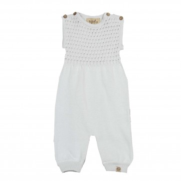 Memini Eirik Knit Romper - Ice Blue