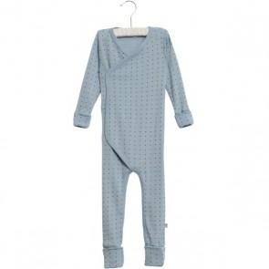 Wheat Wraparound Ull Jumpsuit - Blå med små Stjerner