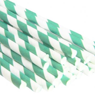 Sugerør - Striper Grønn