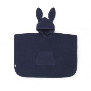 Liewood Poncho Håndkle/Badekåpe - Rabbit Navy