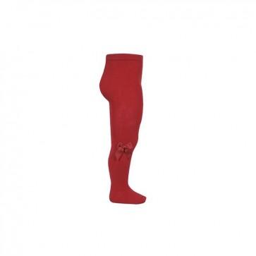 Condor Strømpebukse - Rød med Sløyfe