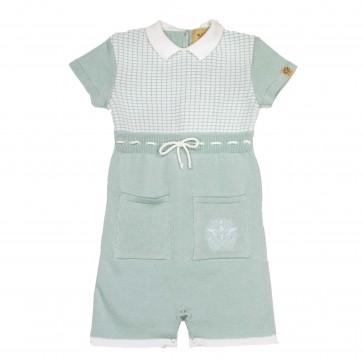 Memini Jan Knit Overall - Cool Mint