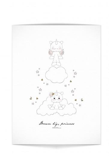 "Plakat - ""Dream big little one"" Rosa"