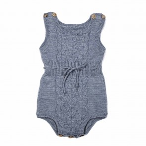 Memini Dante Knit Romper - Mirage Blue
