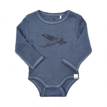 Celavi Ull Body - Blå med Fly