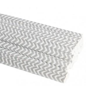 Papirsugerør - Chevron Sølv
