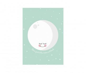 Plakat - Moon Mint A3