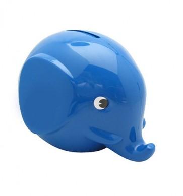 Sparebøsse Elefant - Blå