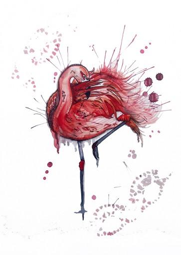 Plakat - Flamingoen Rita
