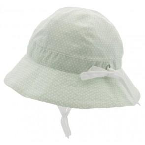 Cth Mini Sommerhatt Polka Dot - Dus Grønn