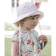 Cth Mini Sommerhatt Polka Dot - Dus Rosa