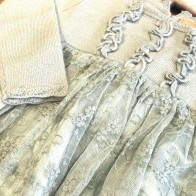 Memini Flora Kjole - Clouded Mint
