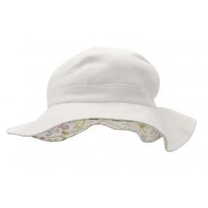 Hatt - Hvit med bred brem
