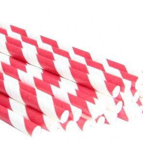 Sugerør - Striper Rød