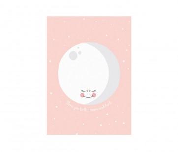 Plakat - Moon Pink A3
