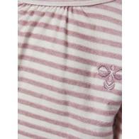 Hummel Lillly Genser - Rosa & Hvite Striper
