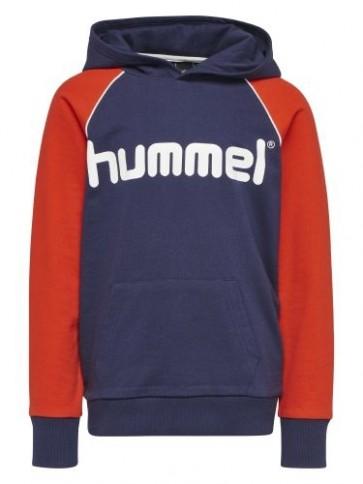 Hummel Adrian Hoodie - Rød, Navy & Creme