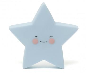 Led Lampe - Blå Stjerne