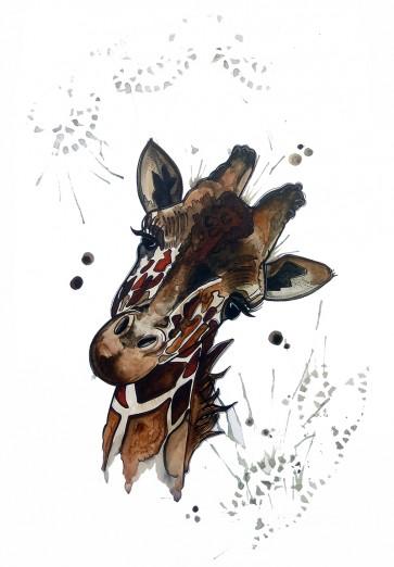 Plakat - Giraffen Olivia