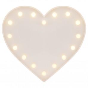 Heart Ledlys - Hvit