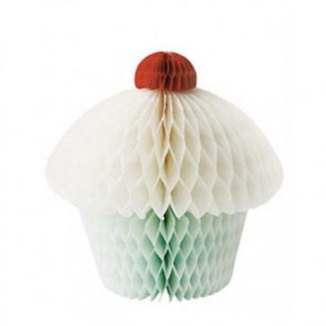Papir Cupcake - Grønn - Liten
