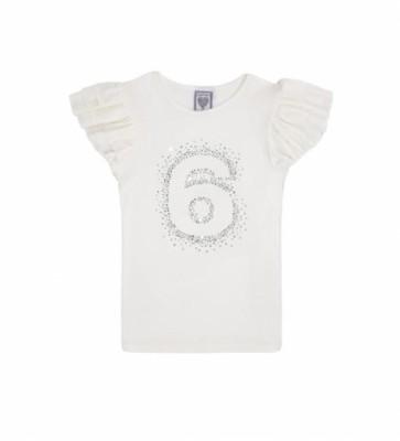 Bursdagsskjorte 6 År - Cream