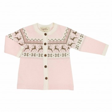 Memini Dasher Knit Coat - Pale Pink