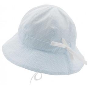 Cth Mini Sommerhatt Polka Dot - Dus Blå