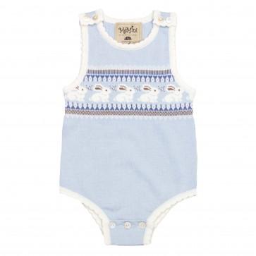 Memini Bobo Romper - Baby Blue