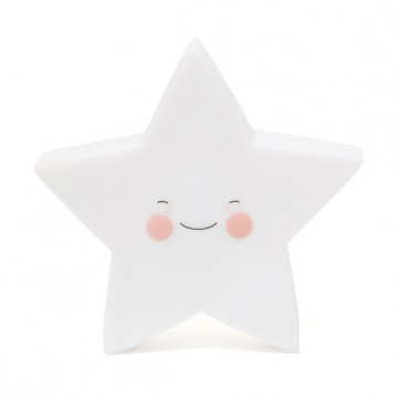 Led Lampe - Hvit Stjerne