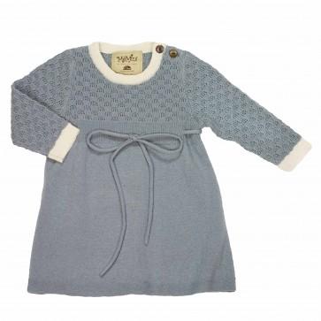 Memini Eira Kjole - Grey Blue