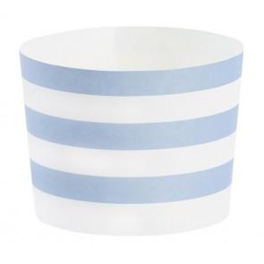 Baking form - Blå striper langsgående, 24stk
